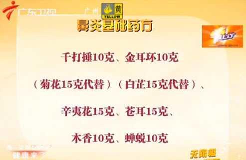 20121108健康来了视频和笔记:覃迅云讲鼻炎鼻息肉等病的熏鼻疗法