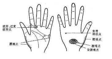 手部按摩穴位图图片