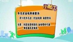 20130813健康有道视频和笔记:刘纳讲冬瓜,冬瓜皮金钱草萹蓄茶