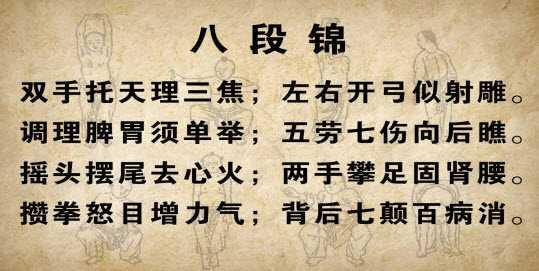 八段锦招式图片