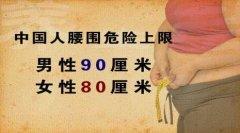 中国人腰围危险上限图片