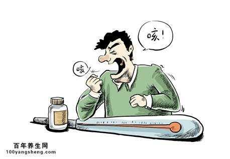 咳嗽可爱卡通图片