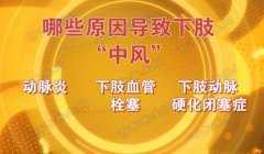 20160503养生堂视频和笔记:郭伟,下肢动脉硬化闭塞症,动脉炎,栓塞