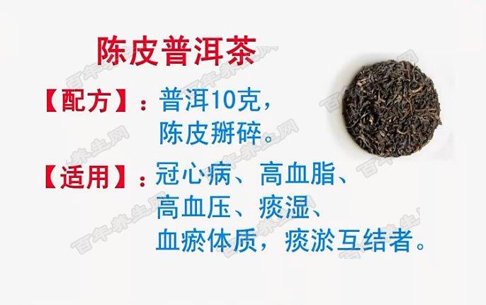 陈皮普洱茶的配方及功效
