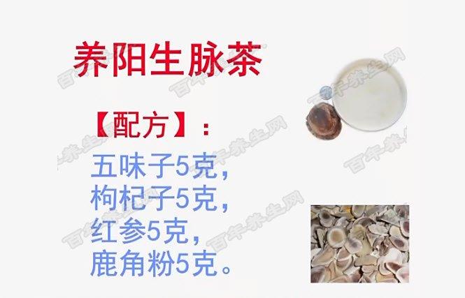 养阳生脉茶的配方