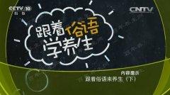 20170126健康之路视频和笔记:陶晓华,野菊,杭菊,贡菊,滁菊,核桃