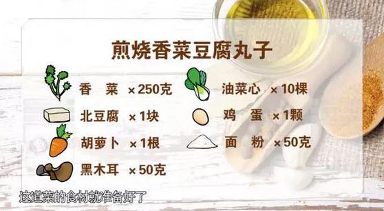煎烧香菜豆腐丸子的制作方法