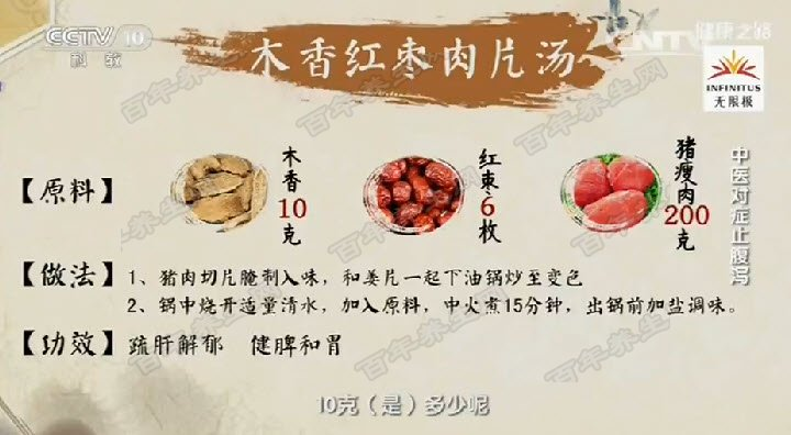 木香红枣肉片汤